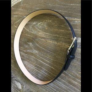 Charles Tyrwhitt men black leather belt size 30-32